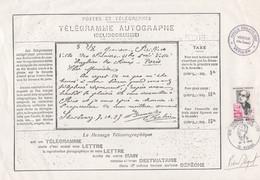 Belinogramme Et Timbre Edouard Belin Signé Béquet - Radiodiffusion