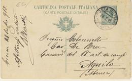 """Posta Militare Cirenaica Del 28/7/1913 Su Intero Postale Del 50° Dell'Unità D'Italia """"Garibaldi A Napoli"""" (2 Immagini) - Cirenaica"""