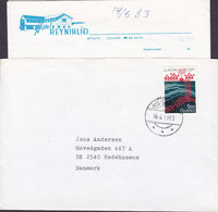 Iceland HOTEL REYNIHLID, HÚSAVIK 1983 Cover Brief HEDEHUSENE Denmark Europa CEPT Single Franking Incl. Original Letter - Lettres & Documents