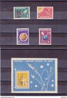 ALBANIE 1962 ESPACE Yvert 585-588 + BF 6D NEUF** MNH Cote :76 Euros - Albanië