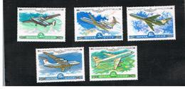 URSS -  YV. PA138.142  -  1979 AIR:  SOVIET AIRCRAFT     (COMPLET SET OF 5)    - MINT** - Ongebruikt