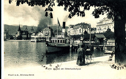 A S 583 / C P A   SUISSE -  LUZERN  AM SCHWEIZERHOFQUAI - LU Lucerne