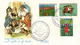 """Italia 1975 FDC ROMA 17° Giornata Del Francobollo Nel Mondo Delle Favole """"Il Gatto Con Gli Stivali"""" - Fairy Tales, Popular Stories & Legends"""