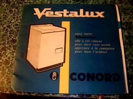 Vieux Papier Publicité Livret Technique  Machine à Laver à Gaz  Vestallux CONDOR 18 Pagess Année ? - Pubblicitari