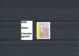 Variété De 2009 Neuf** Y&T N° 4343c Avec 2 Bandes Gauche - Varieties: 2000-09 Mint/hinged