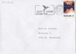 Nederland - Vlagstempel - Geef 's Voor Diabetes - Postal History