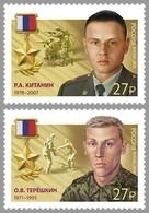 2019-2446-2447 2v Russia Russland Russie Rusia Roman Kitanin And Oleg Teryoshkin.Heroes Of Russia Mi 2663-2664 MNH - Ongebruikt