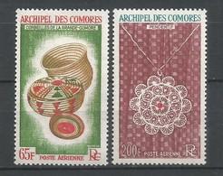 Timbre Colonie Francaises Comores En Neuf *  P-a  N 8/9 - Luchtpost