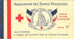 Carnet Association Des Dames Françaises Cinquantenaire - Rode Kruis