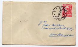 1958. YUGOSLAVIA,SLOVENIA,TPO 3 SEZANA-BEOGRAD,SENT FROM LJUBLJANA TO N.BELGRADE,STATIONERY COVER,USED - Interi Postali