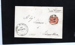 CG58 - Lettera Da Varese Per Induno Olona 7/2/1887 - Annullo Cerchio Nero + Bollo Giunta Municipale Di Azzate - Marcophilia