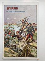 Ak Cp Mitrailleur Maschinegewehr Schutzengraben Tranchee BYRRH Vin Tonique Zouave - Guerra 1914-18