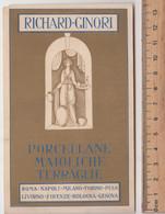 RICHARD-GINORI # Porcellane, Maioliche, Terraglie - Indirizzi Vari # Cartoncino/cartolina -sul Retro Indirizzi Vari - Reclame