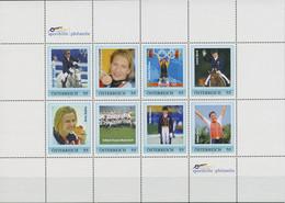 Österreich 2007 Sporthilfe Weltmeister Personalisierter Kleinbogen (C96190) - Sellos Privados