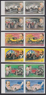 CHAD (1983) Automobiles And Their Builders. Set Of 6 Imperforate Pairs. Scott Nos 451a-f, Yvert Nos PA256-61. - Chad (1960-...)