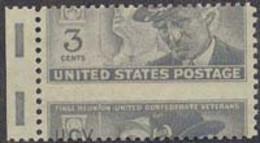 "U.S.A. (1951) Soldat Et Vétéran De L'United Confederate Veterans"". Piquage à Cheval. Yvert No 549. Scott No 998. - Abarten & Kuriositäten"
