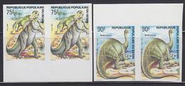 BENIN (1984) Anatosaurus. Brontosaurus. Set Of 2 Imperforate Pairs. Scott Nos 587-8. - Benin – Dahomey (1960-...)