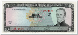EL SALVADOR,10 COLONES,1980,P.129b,AU-UNC - Salvador