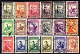 Cape Verde Scott#234-251 (1938) Colonial Empire Full Set VF Used - Kaapverdische Eilanden