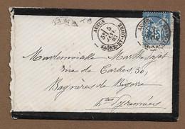 AUTUN  1883 : Enveloppe Avec CàD  Type 19 Sur Sage ( Saône Et Loire ) : - 1877-1920: Semi Modern Period