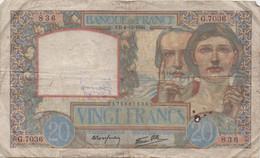 France : 20 Francs 1941 (très Mauvais état) - 20 F 1939-1942 ''Science Et Travail''