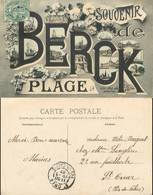 [507709]B/TB//-France  - (62) Pas-de-Calais, Souvenir De Berck-Plage,Bateaux, Eglises Et Cathédrale, Commerce - Berck