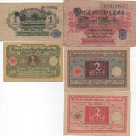Série De 10 Billets De Darlehenskaffenschein : 1-1-2-2-2-5-5-20-20-50 Mark 1914-1920 - Verzamelingen