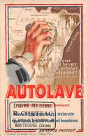 PUBLICITE-Propagande Militaire ? Nettoyage Alsace Lorraine-Dessin-Illustrateur-Epicerie Cheteau Montrouge-92-Hauts Seine - Publicidad