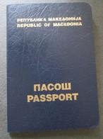 PASSPORT REISEPASS PASSAPORTO PASSEPORT REPUBLIC OF MACEDONIA 1994-2004, VISA EUROPEAN UNION - Documentos Históricos