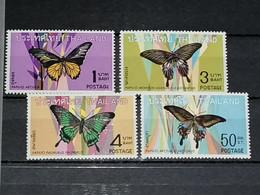 Siam Thailande YT 498/501 MNH XX - Butterflies