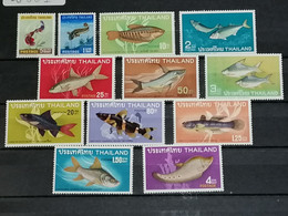 Siam Thailande YT 453/456 + 490/497  MNH XX - Fishes