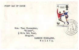 (Z 3) Football World Cup - UK - 1966 (posted From UK To Malaya - Malaysia) - 1966 – Inglaterra