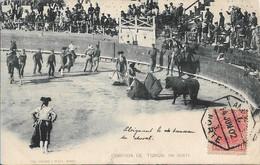 Carte Postale Ancienne CORRIDA DE TOROS – Un Quite (un Supprimer) - Madrid