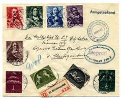 Aangetekende Brief Van St. Michelsgestel Naar 's-Hertogenbosch 1943 - Sin Clasificación