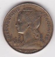 Madagascar /Republique Française. 20 FRANCS 1953 , Bronze Aluminium , Lec 112 - Madagascar