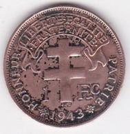 MADAGASCAR. FRANCE LIBRE. 1 Franc 1943. BRONZE, Lec 94 - Madagascar