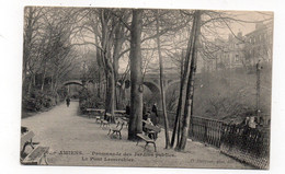 80 - AMIENS - Promenade Des Jardins Publics - Le Pont Lemerchier - Animée (A55) - Amiens