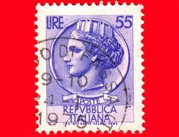 ITALIA - Usato - 1969 - Siracusana Fluorescente - Antica Moneta Siracusana - 55 L. - 1961-70: Usados