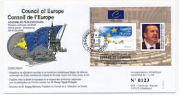 "FRANCE - Env Porte Timbre ""Tayyip Erdogan (Turquie)""  Obl Strasbourg Conseil De L'Europe 28/6/2006 - Lettres & Documents"