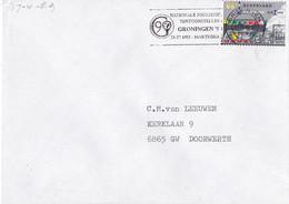 Nederland - Vlagstempel - Nationale Postzegeltentoonstelling Groningen 90 - 25-27 Mei Martinihal - Postal History