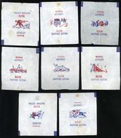 Emballage De Sucre Ancien Lebaudy Paris Série Les Sports Lot De 8 Emballages Différents - Sugars