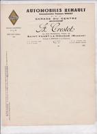 50-A.Crestot...Automobiles Renault...Garage Du Centre..Saint-Vaast-la-Hougue.(Manche)..194? - Automobilismo