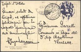 1912 TRIPOLI DAFRICA N 1/(PORTO) C.2 (2.10) Su Cartolina (Tripoli Panorama Visto Dalla Spiaggia) - Libia