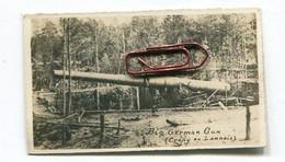 Petite Photo Edition  Format : 70*41 Mm : Crépy En Laonnois Gros Canon Allemand Guerre 14-18   A VOIR  !!! - Places