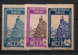 Niger - 1926-38 - N°Yv. 47 - 47A - 47B - Zinder 3 Valeurs - Neuf Luxe ** / MNH / Postfrisch - Unused Stamps