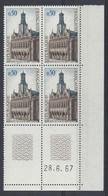 SAINT QUENTIN N° 1499 - BLOC De 4 COIN DATE - NEUF SANS CHARNIERE - 28/6/67 - 1960-1969