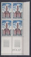 VIRE N° 1500 - BLOC De 4 COIN DATE - NEUF SANS CHARNIERE - 28/6/67 - 1960-1969