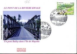 MAYOTTE 0166 Fdc Pont De La Rivière Kwalé - Brücken