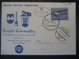 Österreich 1961- Ersttagskarte Zum Kronfeld-Gedenksegelflug Von Innsbruck Nach Kufstein Mit Mi.Nr. 1085 - Poste Aérienne