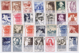 J3020  28 Tp Neufs Differents Des Annees 40-50 - Unused Stamps